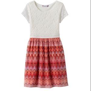 NWT GirlsPlus Speechless Lace Geometric Dress